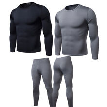Mens 2ps Thermal Underware Fleece Thermos  Warm Long Winter Set Top and Bottom