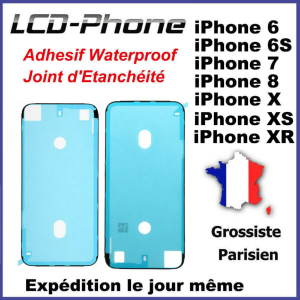 Adhesif Waterproof Joint d'Etanchéité Ecran iPhone 6S, 7, 8 Plus, X, XR, XS Max