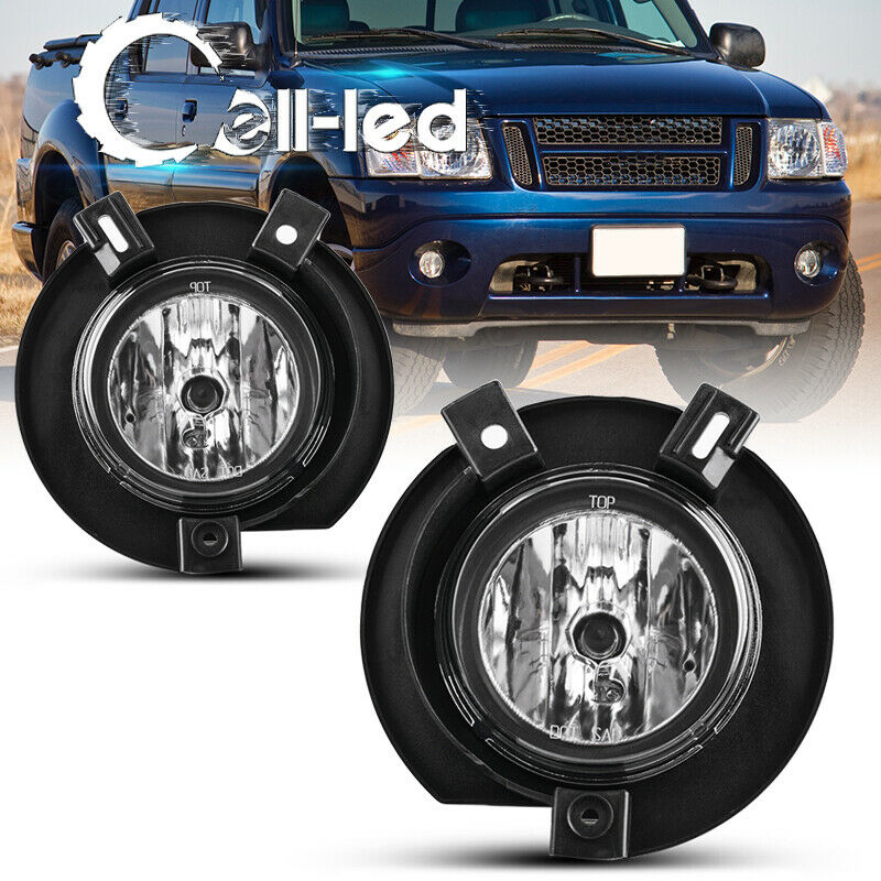 Details About For 2002 2003 2004 2005 Ford Explorer Clear Per Fog Light Lamps W Bulbs Pair