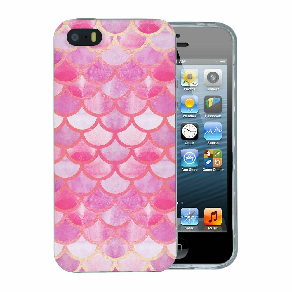 the best attitude 5daf3 39726 For Apple iPhone 5 5S SE Silicone Case Girly Mermaid Pattern - S6162 | eBay