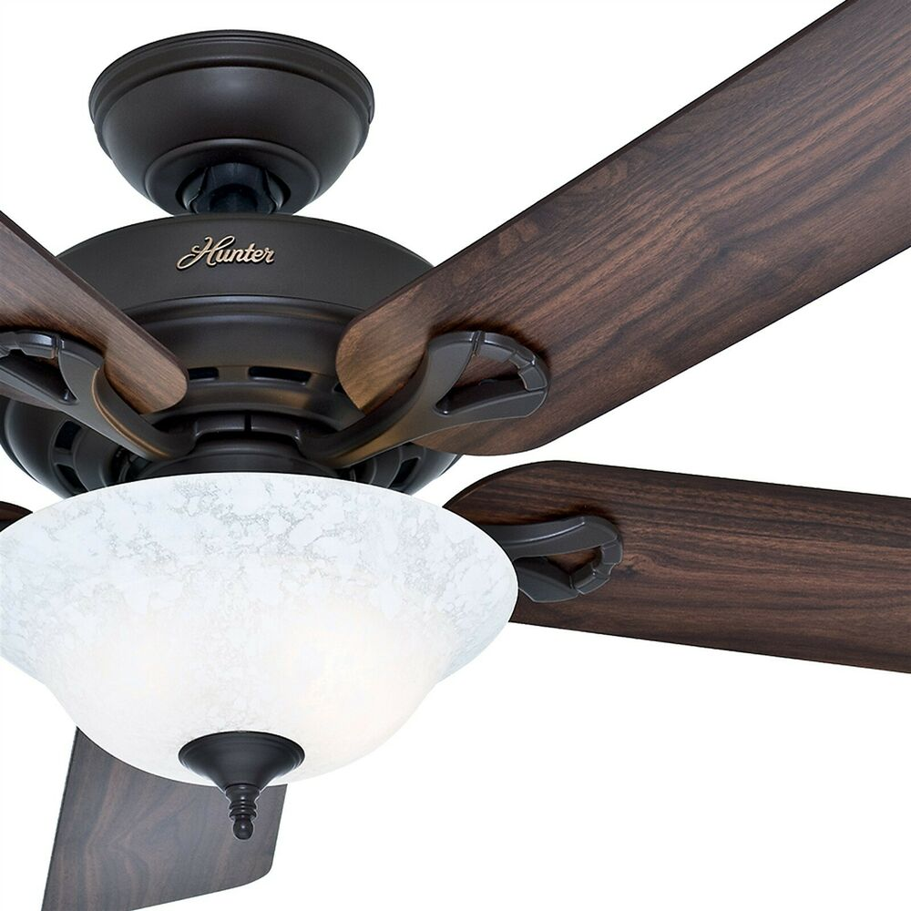 "Hunter 52 Chatham New Bronze Ceiling Fan With Light At: Hunter 52"" New Bronze Ceiling Fan W/ Reversible Cherry"