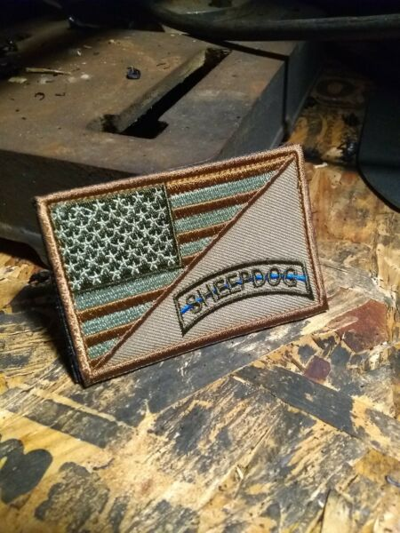 Sheepdog/Blue Line COLLECTIBLE MORALE patch - HOOK & LOOP