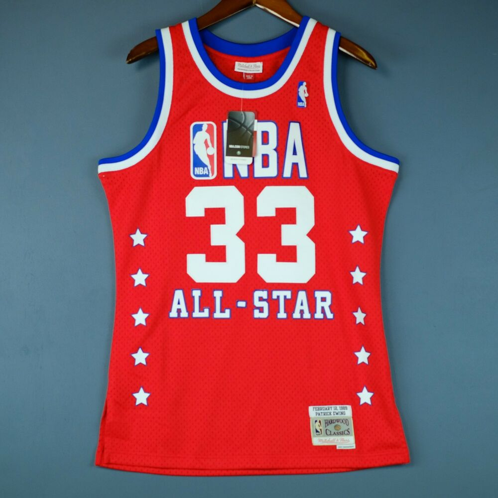 8c9774d2241 Details about 100% Authentic Patrick Ewing Mitchell Ness 89 All Star  Swingman Jersey Size M 40