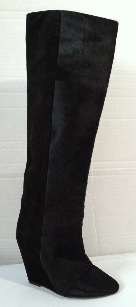 5d3f9675fc3 NWOBX Isabel Marant Shelia Pony Hair Wedge Boot US SZ 6 EUR SZ 36 Made in  France