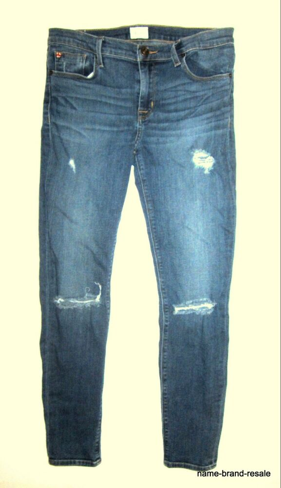 7b3796731ee Details about HUDSON Krista Ankle Super Skinny JEANS Womens 29 RIPPED  Designer Denim STRETCH
