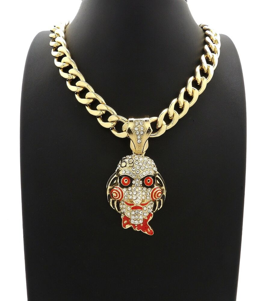 "69 Chain Jigsaw: ICED OUT 69 JIGSAW PENDANT WITH 20"" 11mm CUBAN CHAIN"