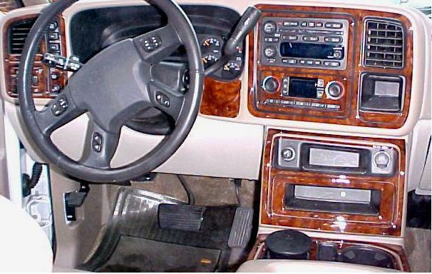 chevrolet chevy tahoe interior burl wood dash trim kit set 2003 2004 2005 2006 ebay