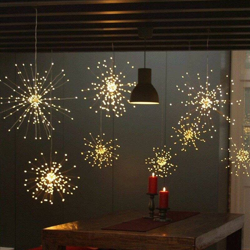 Details About Firework Led Copper Fairy Wire String Lights Remote Control Christmas Decor