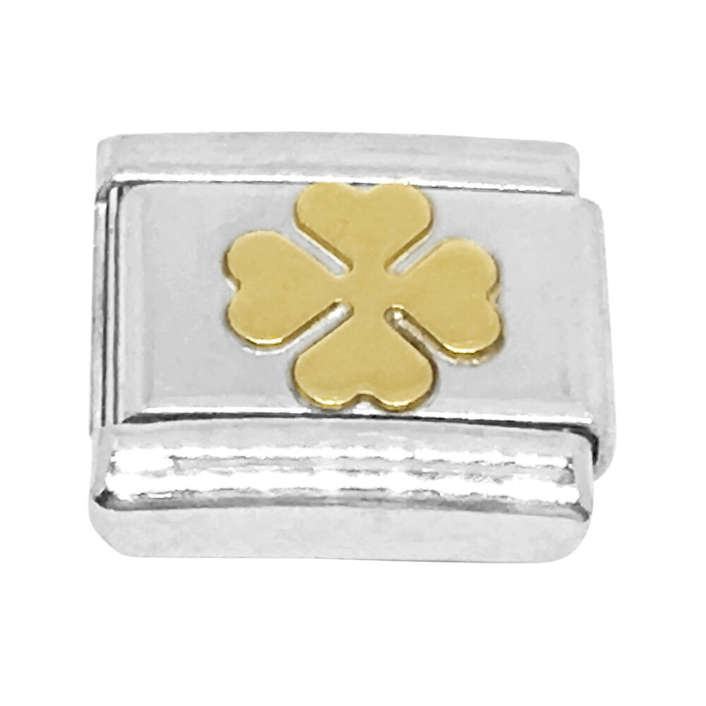 6b45eda61 Details about Nomination Composable Classic Four-Leaf Clover Charm in 18K  Gold
