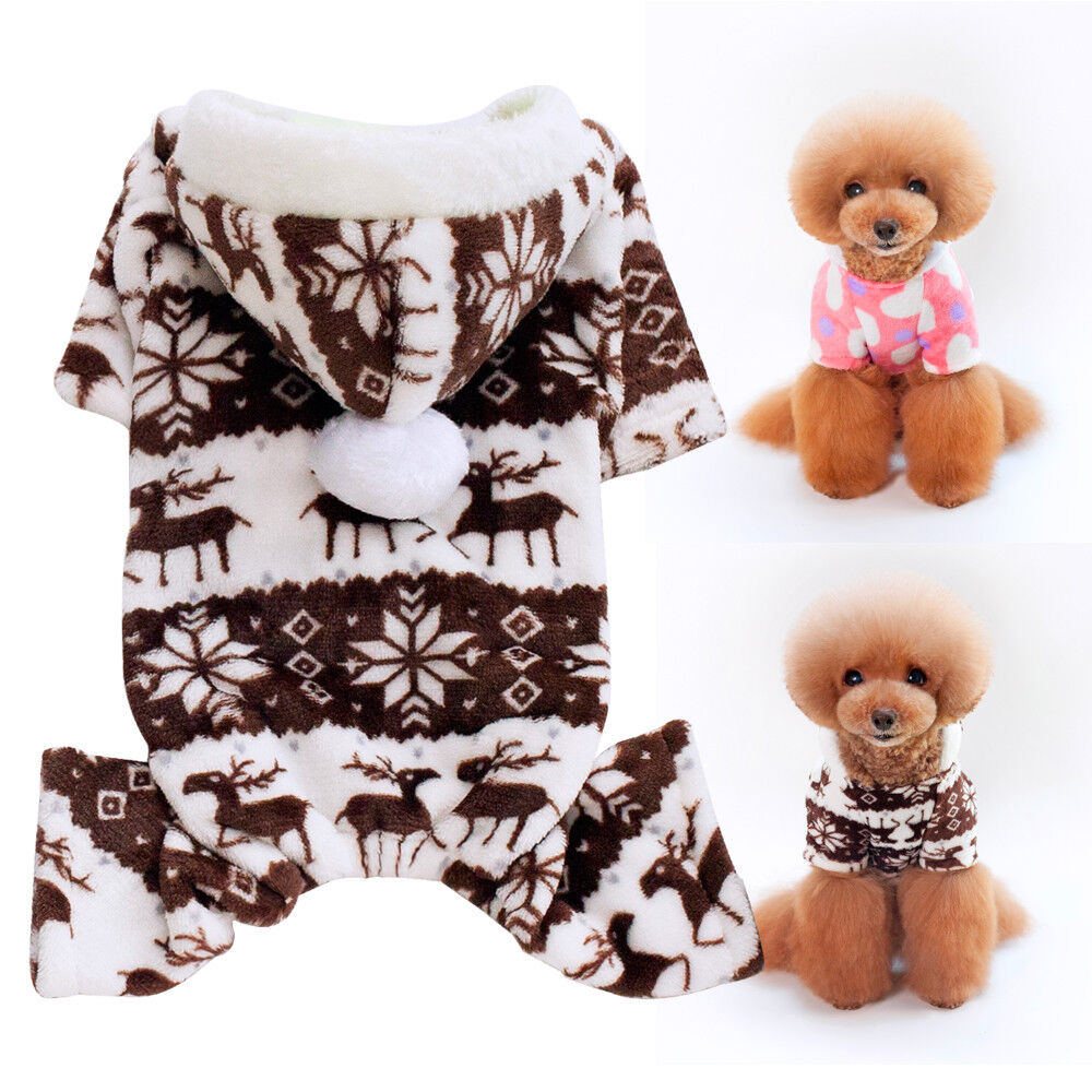 Winter Warm Dog Pajamas For Small Dogs Pet Puppy Hoodies