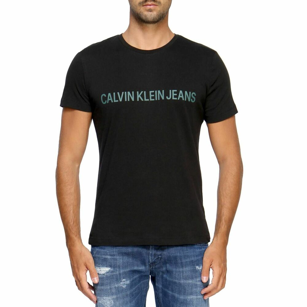3a269656e6 CALVIN KLEIN JEANS Institutional Logo Slim Fit T-Shirt in Black