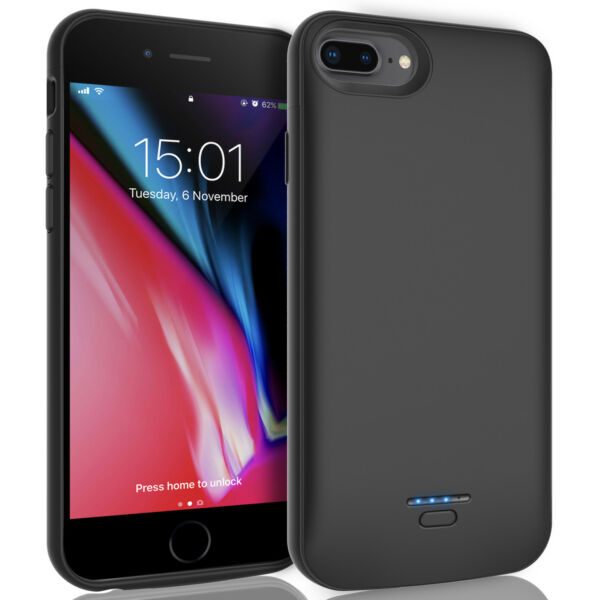 For iPhone 6 6s 7 8 Plus External Battery Case Power Bank Backup Charging Cover