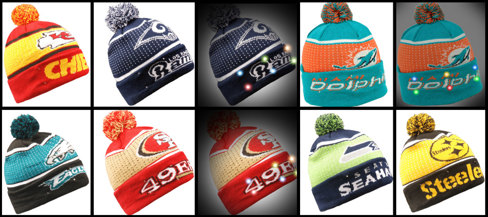 5b301d617 NFL Big Logo LED Light Up Knit Beanie by Forever Collectibles
