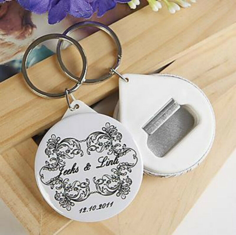 Wedding Souvenirs For Guests: 30pcs Personalized Bottle Opener/Keychain Wedding Favors