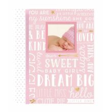Lil Peach Dream Big Wordplay Baby Girl Memory Book Pink - 46 Journal Pages