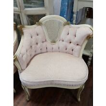 Pr. of French Provential Hollywood Regency Open Arm Chairs