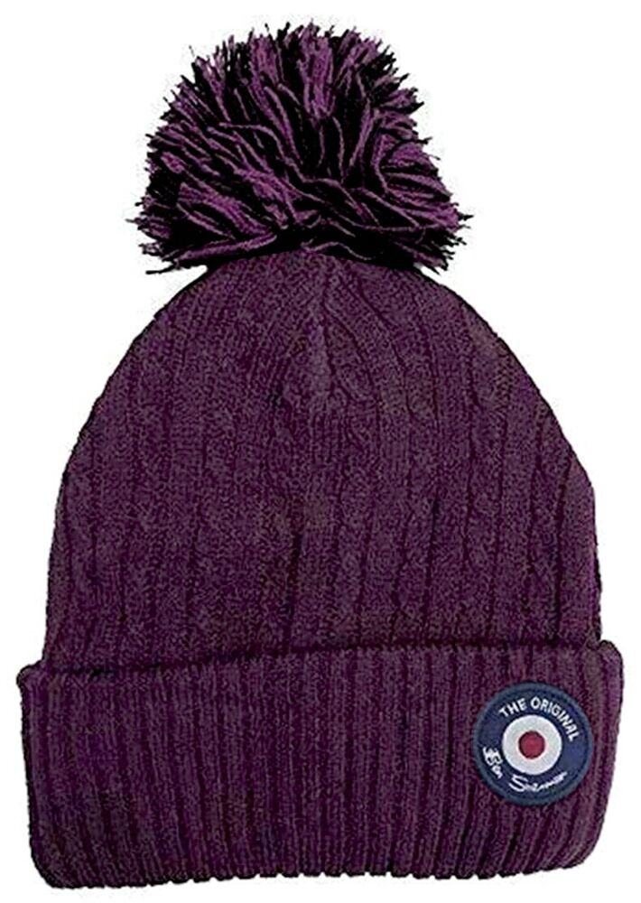 Details about BEN SHERMAN Mens Target Beanie Pom Pom Bobble Hat Black One  Size   BNWT 18f8a0aed48
