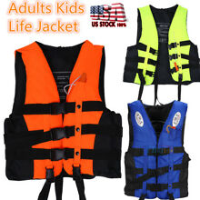 Clearance Kids Adults Floating Life Jacket Preserver Vest Swim Boat Fish S-XXL