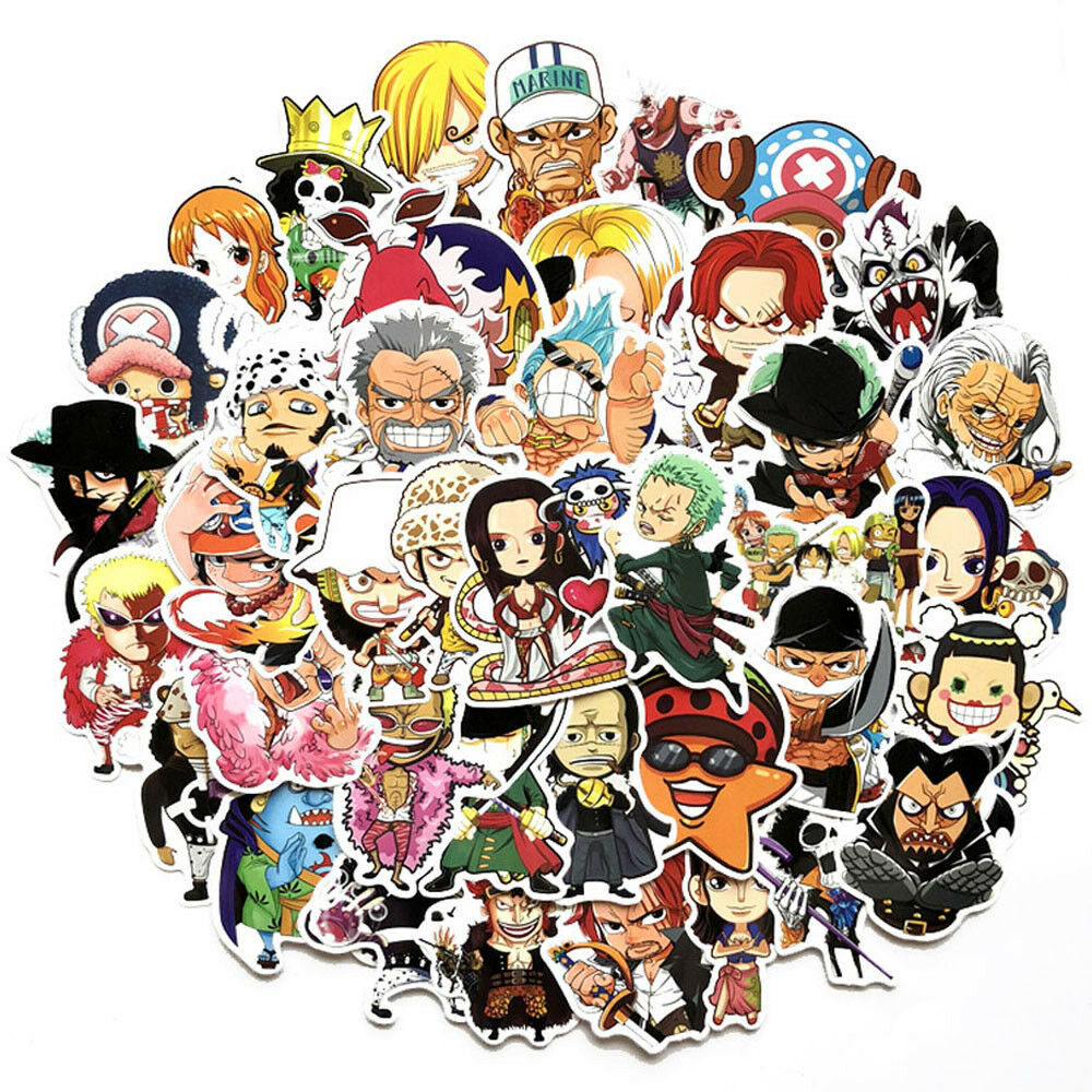 Details about 60pcs one piece stickers skateboard sticker graffiti laptop car luggage decals
