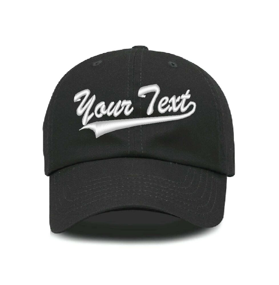 02b0e107b9e Details about Custom Personalized Embroidered Text Dad Hats Cap Baseball Cap  Hat 601-C03