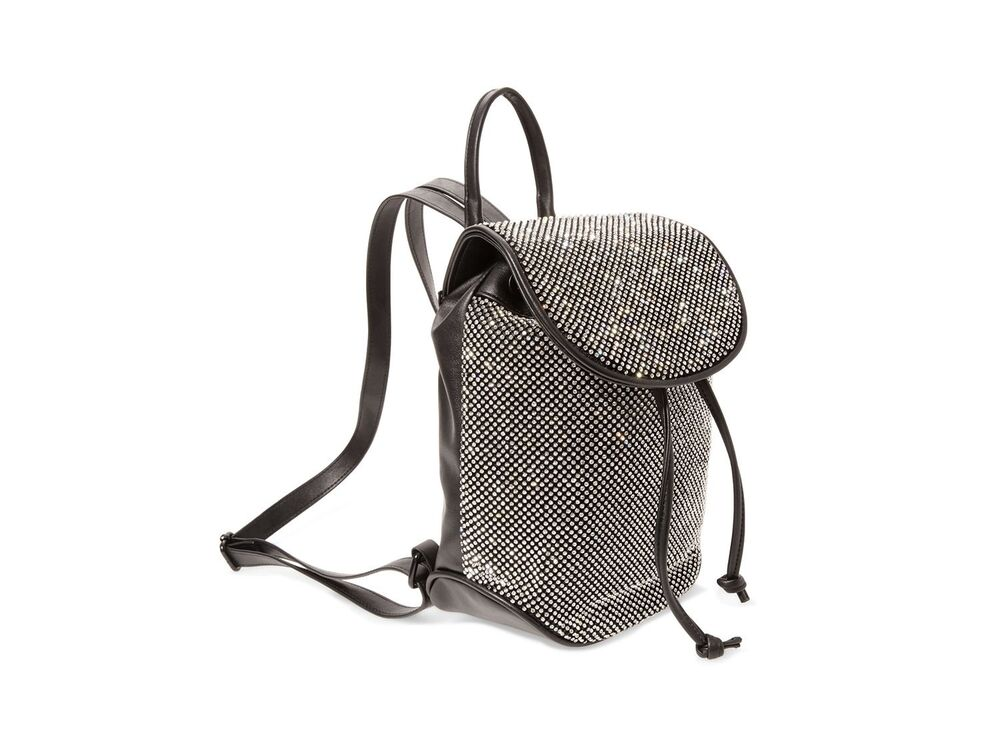 5dbe195bb1a Details about NWT Steve Madden Mini Backpack Bfeisty Festive Black Micro  Pave  Crystals SEALED