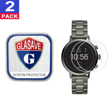 2 PackGLASAVE Fossil Q Venture HR (Gen 4) 40mm Tempered Glass Screen Protector