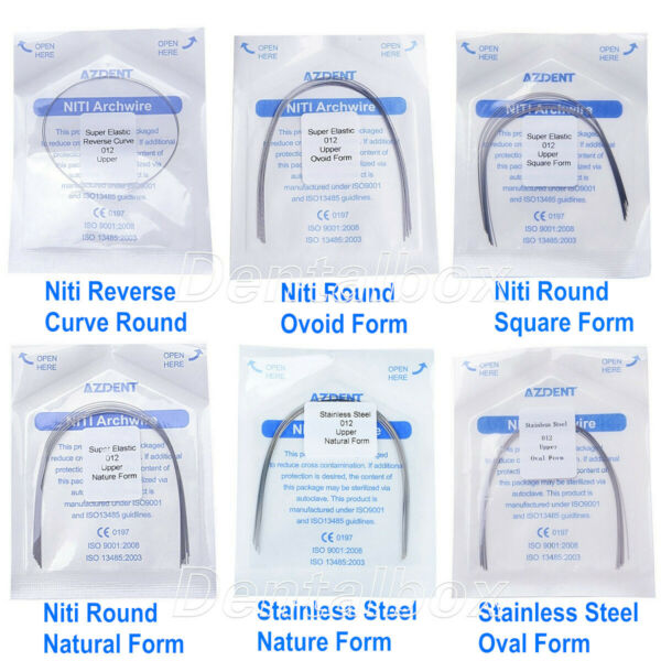 $0.99 Dental Orthodontic NITI/Stainless Steel Round Arch Wire 6 Type 12-20U/L