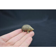 Chinese Copper Bronze Brass Animal Hedgehog Small Statue Ornament