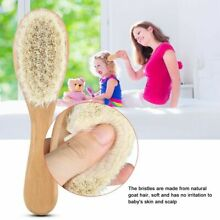 Baby Goat Hair Brush and Comb Set for Newborns Toddlers  Eco-Friendly Comfortab