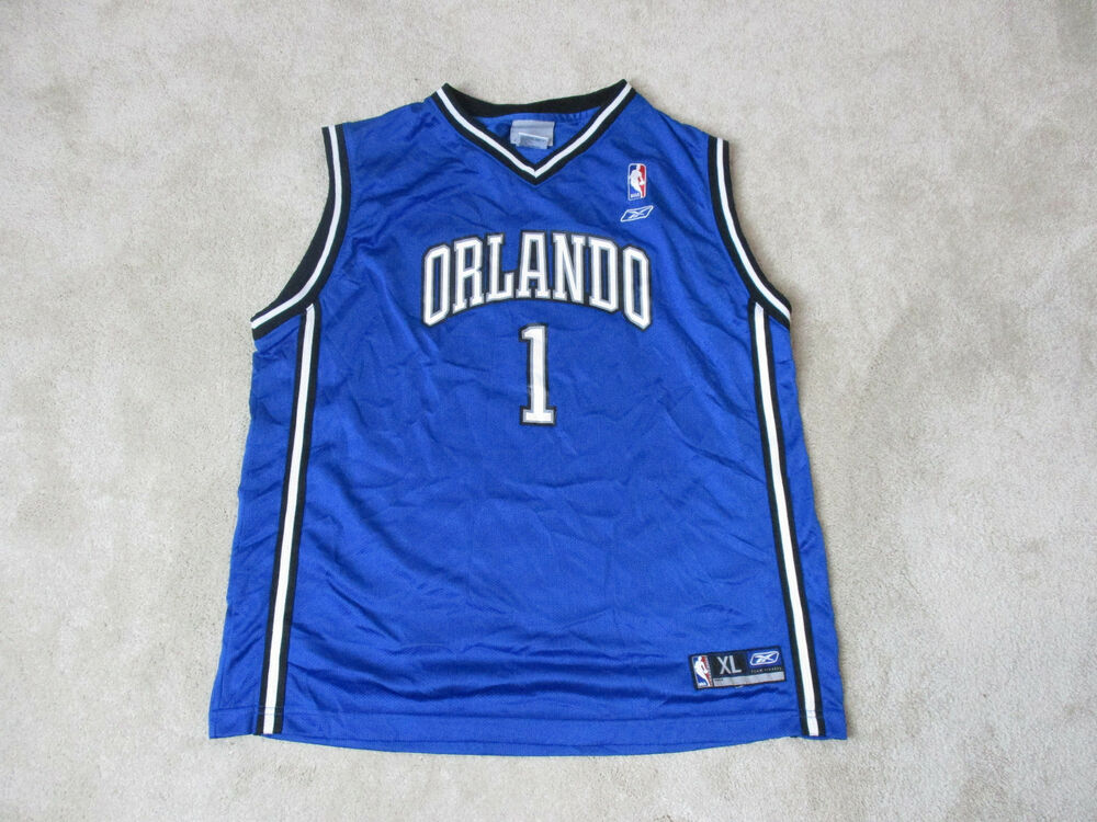 23b3ea12e4f Details about Reebok Tracy McGrady Orlando Magic Basketball Jersey Youth  Extra Large Blue Kids