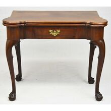 George III Chippendale Mahogany Gate Leg Game Table Late 18th Century Early 19th