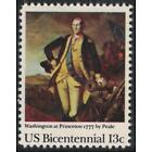 "Scott 1704- ""Washington at Princeton"" by Peale- MNH 13c 1977- unused mint stamp"