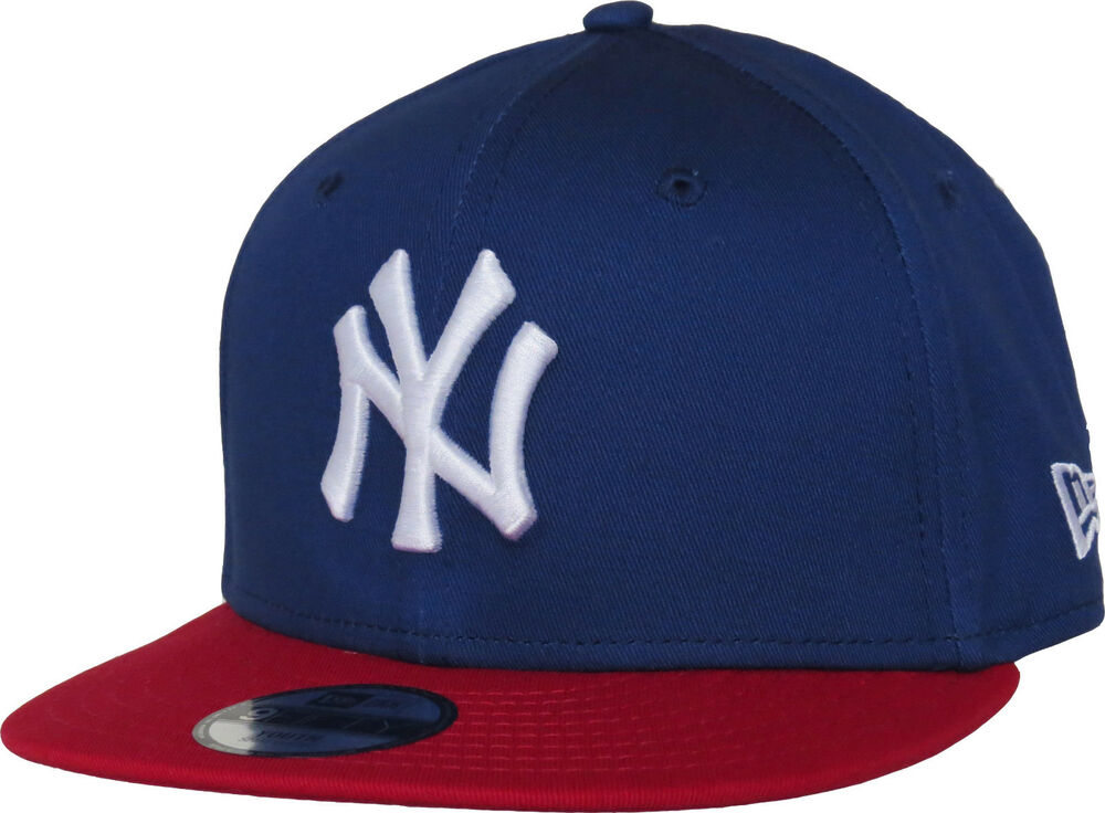 4f7e56153045b0 Details about New Era 950 Kids Cotton Block NY Blue/Red Snapback Cap (Ages  5 - 10 years)