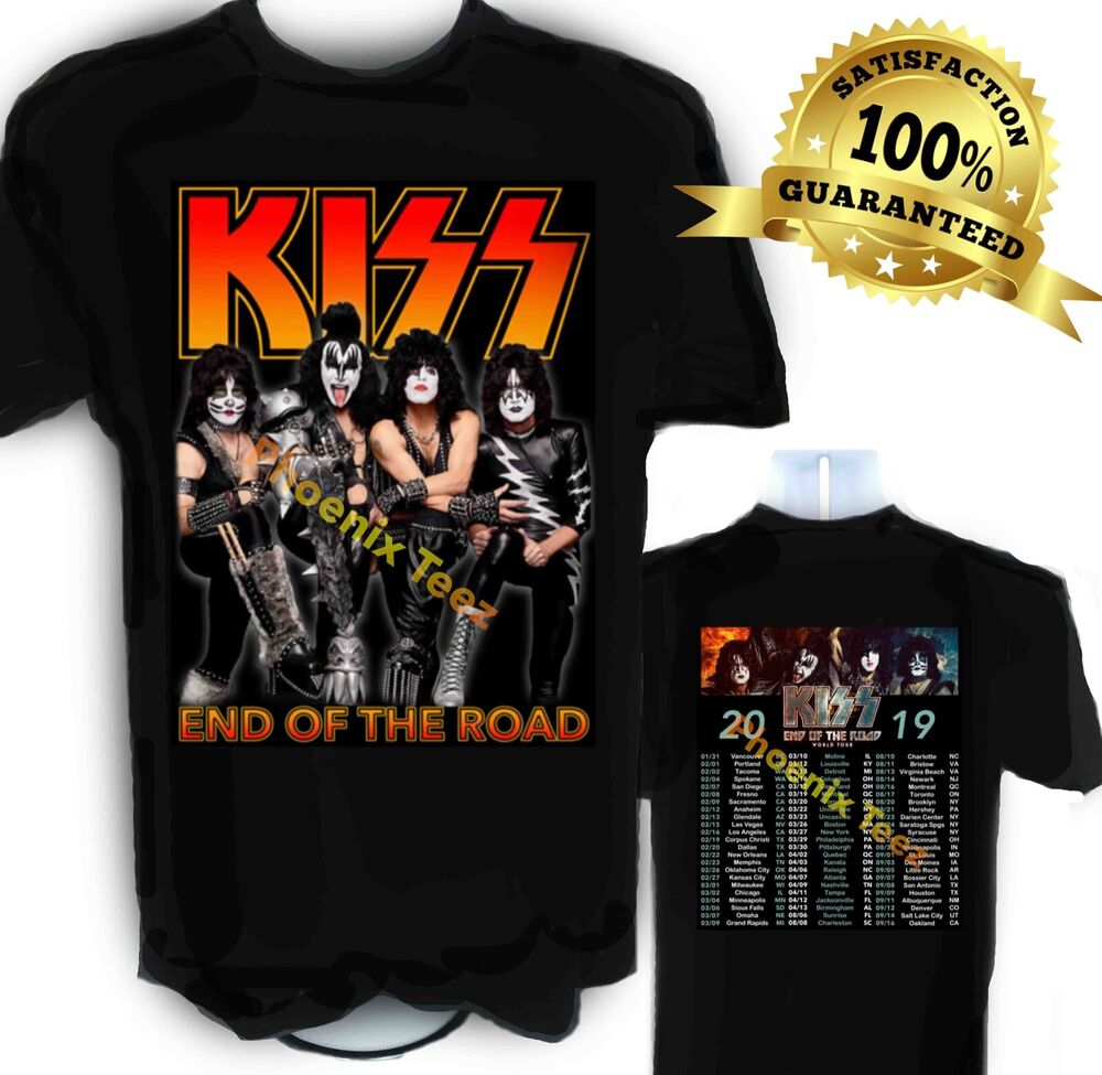Kiss 2019 End Of The Road Concert T Shirt Ebay