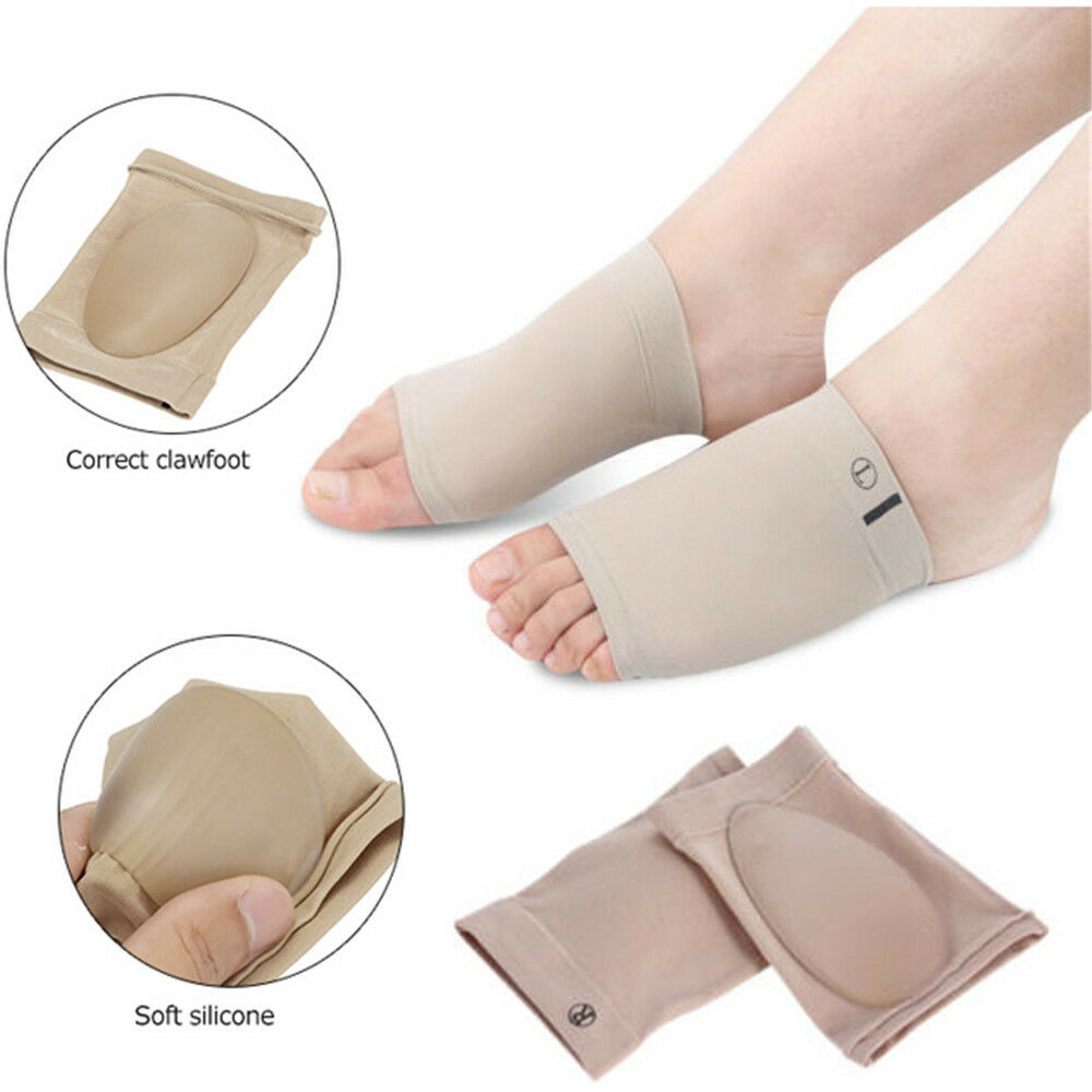 5f049368d8 Details about Flatfoot Correction Gel Orthotic Insole Orthopedic Pad  Plantar Fasciitis