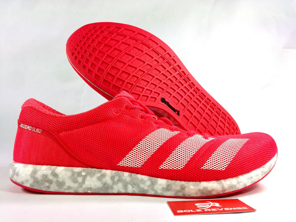 0ed33bf1563 NEW adidas ADIZERO SUB 2 SHOES Mens Running shock red cloud white b37408  pink a1