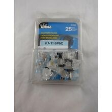 NEW Ideal Telephone Plugs RJ-11 6P6C, Pack of 25
