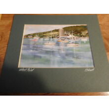5 x 7 Print of Painting  of West Point, Hobart  Tasmania-matted / David Hopkins