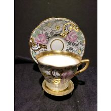 Vintage Rosina - Queens Tea Cup & Saucer with Pink Roses & Gold Trim # 4859