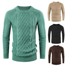 US Men Soft Sweater Knitted Warm Cashmere V Neck Pullover Long Sleeve Tops M-2XL