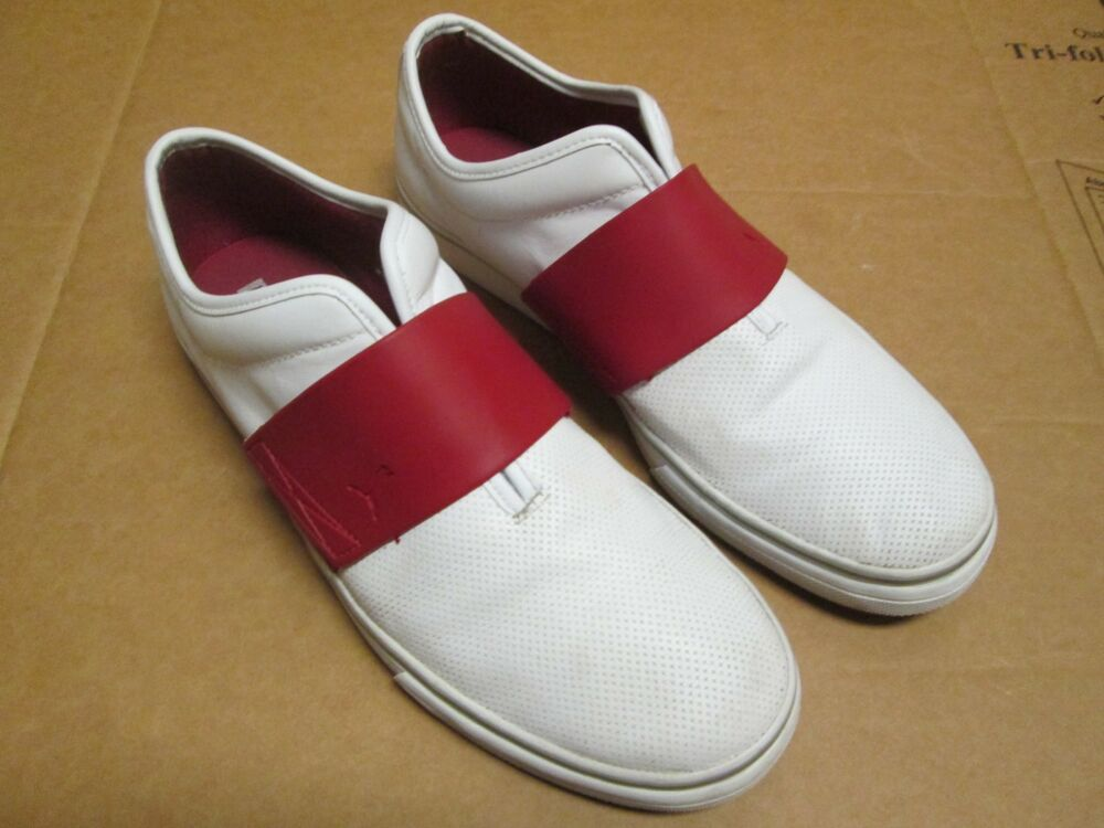 eebdd09aa36 Details about Puma Sport Lifestyle Men s White Red Leather Shoes Size 11 EUC