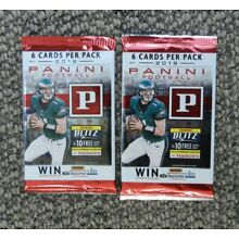 LOT OF 2  Packs UNOPENED OF 6 cards EACH 2018 PANINI FOOTBALL CARDS Carson Wentz