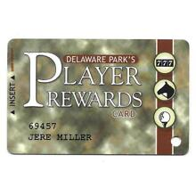 DELAWARE PARK RACETRACK AND CASINO ,PLAYER REWARDS SLOT CARD 4th ED.