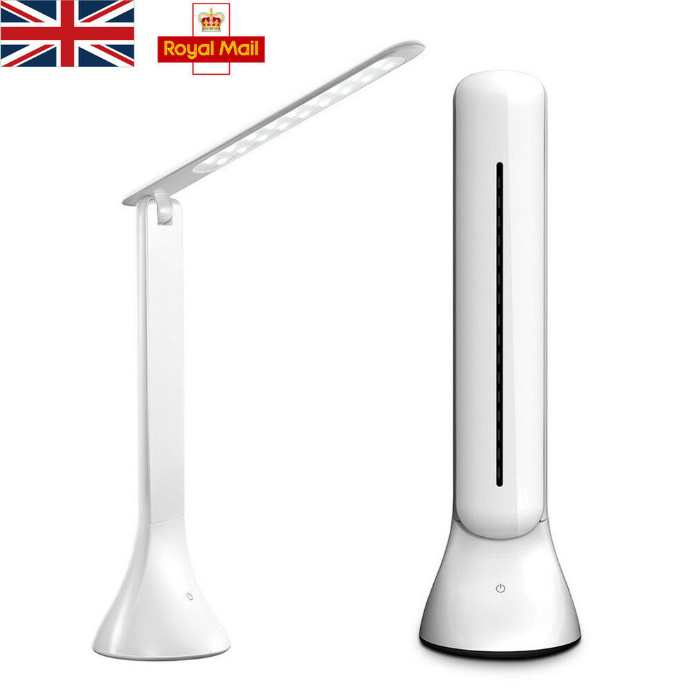 Details About Led Nail Table Lamp Manicure Art Desk Office Reading White Light Home Slimline