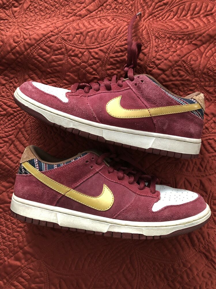 best service 78dfc 17d50 Details about Nike Dunk Low Pro SB Anchorman Team Red Metallic Gold Size  9.5 Ron Burgundy