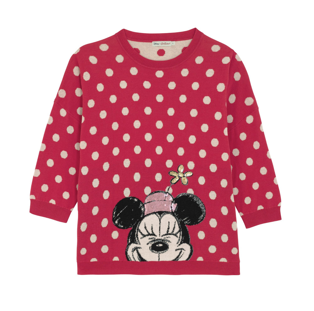 Details about Disney x Cath Kidston Mickey Mouse Minnie Knitted Jumper  Sequin Polka Dot BNWT 82a49c3bc