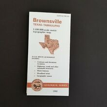 Brownsville Texas Tamaulipas USGS 1:100 000 Scale Topographic Map