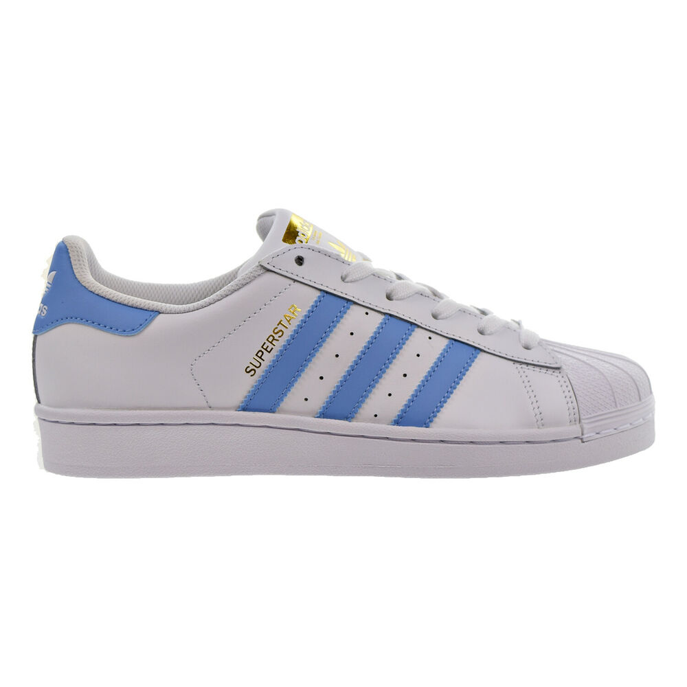 new arrival fa281 9f8f7 Details about Adidas Superstar Women s Shoes White Light Blue Gold by3723