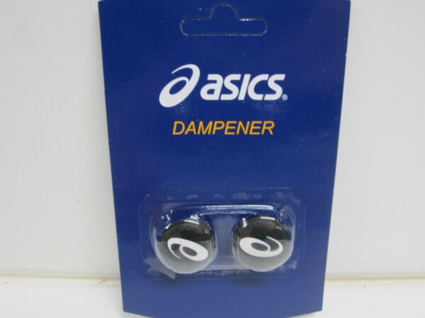 **NEW* 2X ASICS BLACK VIBRATION DAMPENERS FOR TENNIS RACQUETS (1 PACK OF 2)
