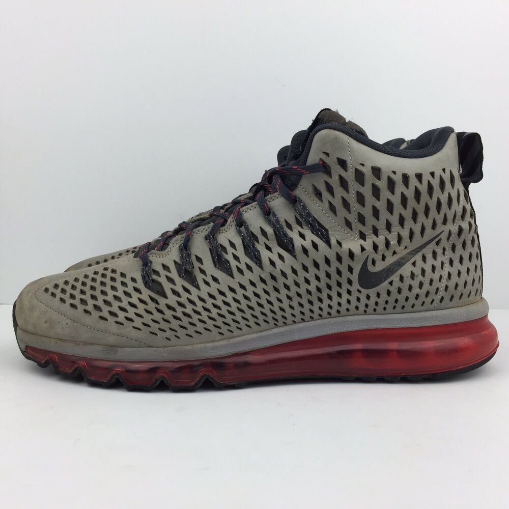 the best attitude 0cff2 bb52e Details about Nike Air Max Graviton Red Athletic Shoes Silver Sneakers  616045-006 Mens Size 12
